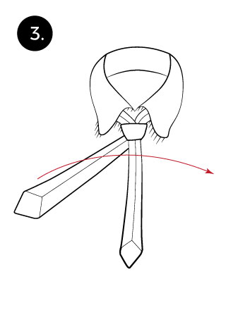 tie a tie with a kelvin knot