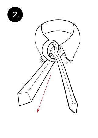Pratt Knot Tying instructions step 2
