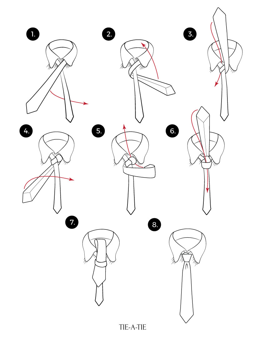 learn to tie a half windsor tie knot