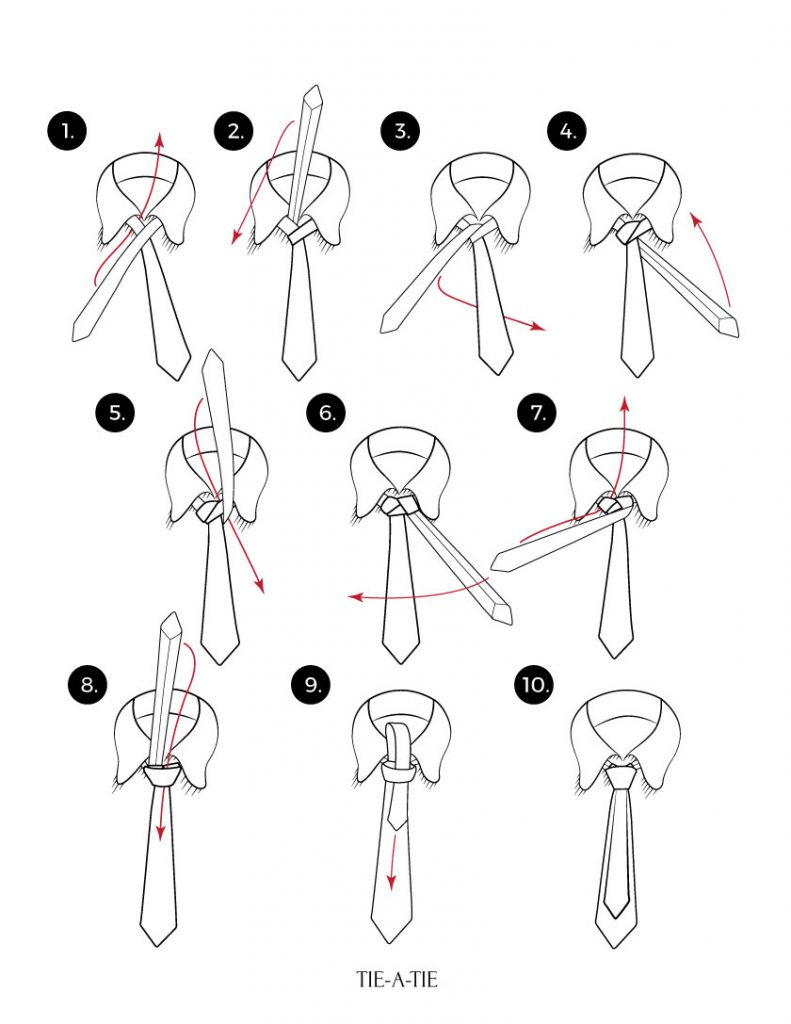 how to tie a murrell necktie knot