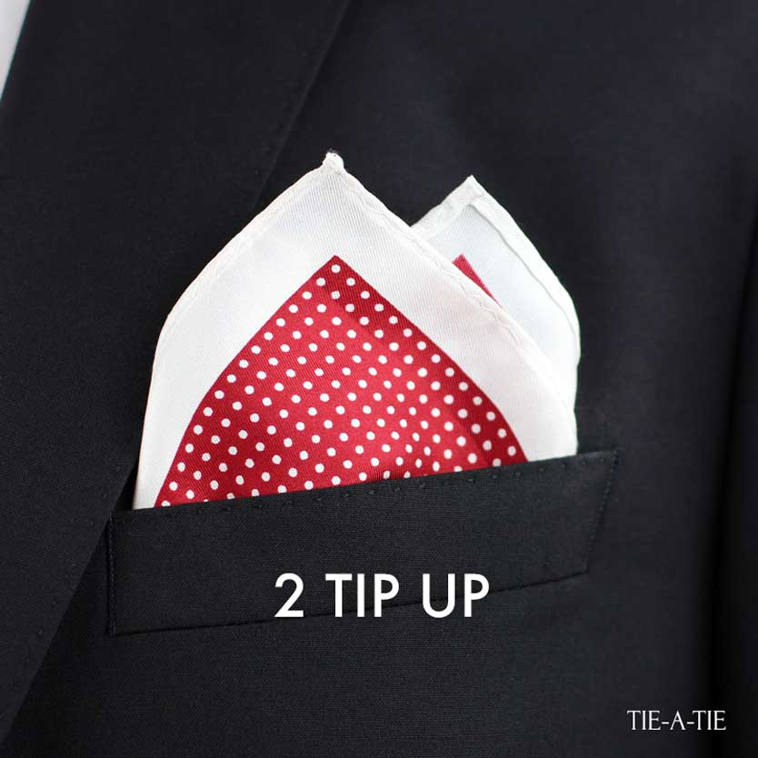 2 Tip Up Pocket Square Fold