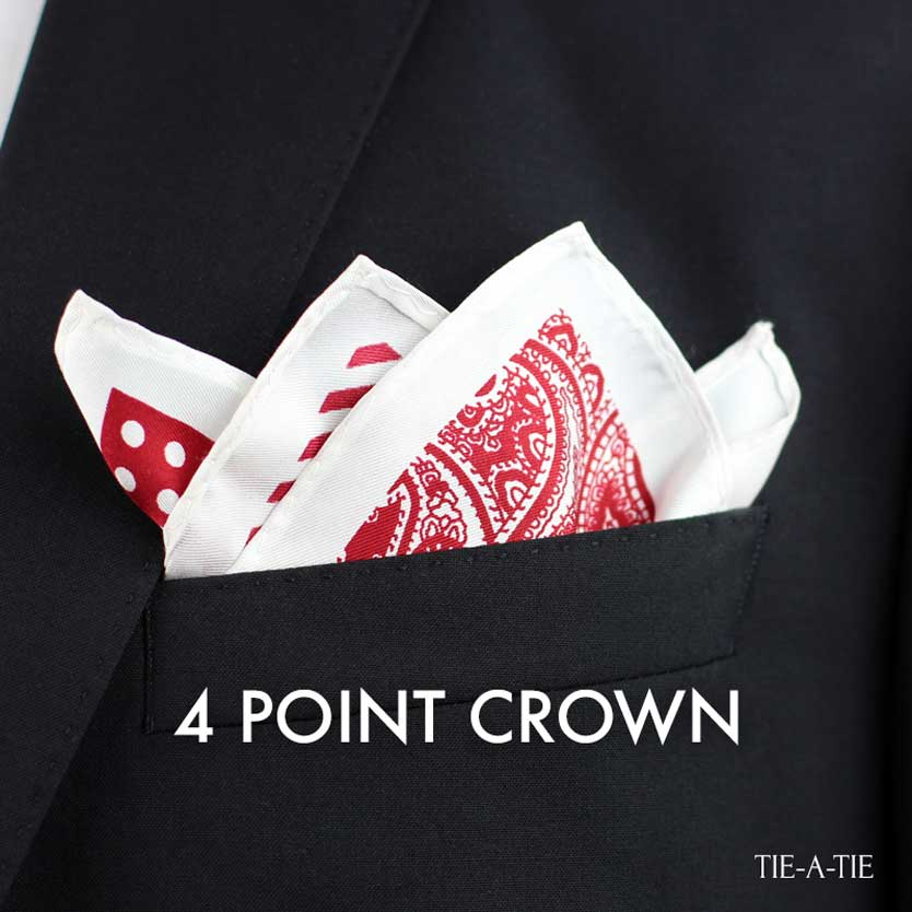 4PointCrown pocket square fold