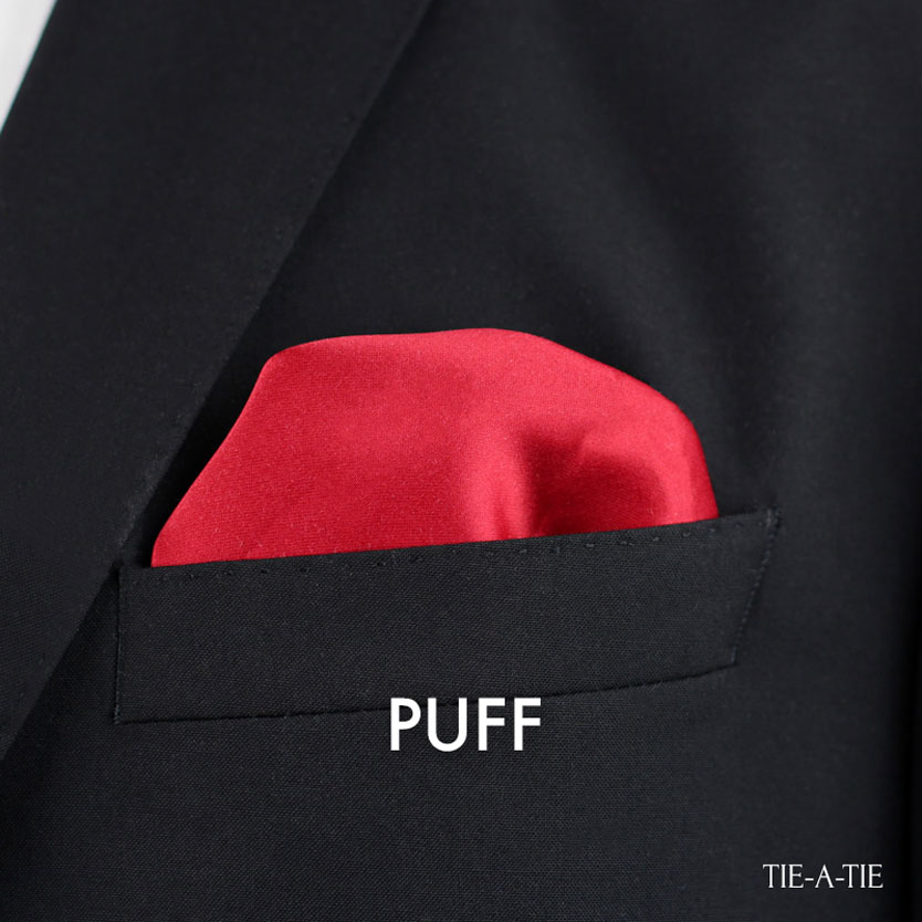 Puff Pocket Square Casual Fold