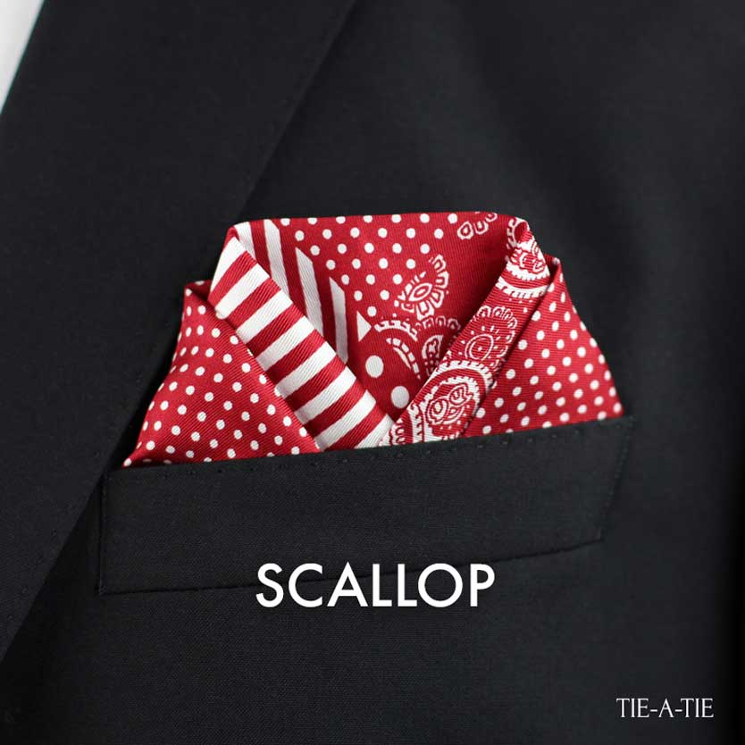 Scallop Pocket Square