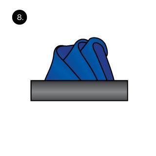 Wave Handkerchief Fold