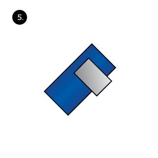 Pocket Square three peaks