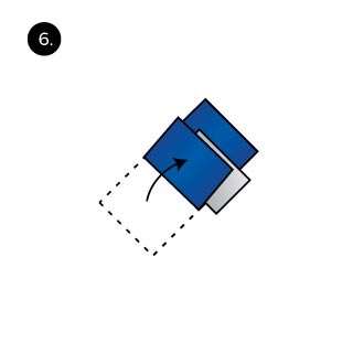Pocket Square three peaks fold