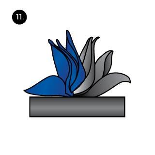 flamboyant hanky fold