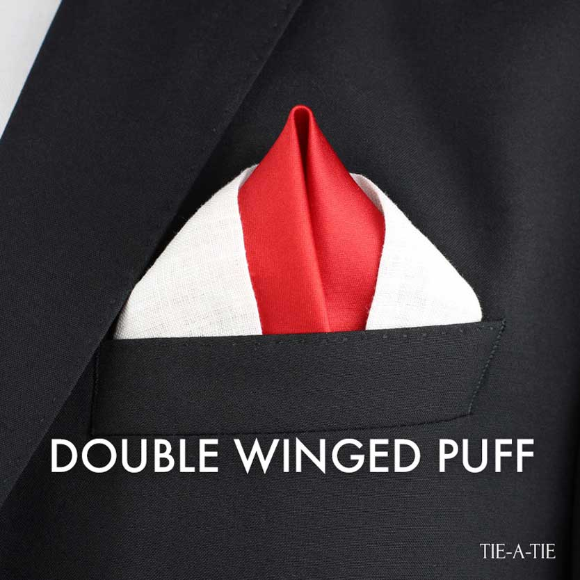double winged puff pocket square fold