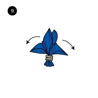 Handkerchief Folds Fleur de Lis How to