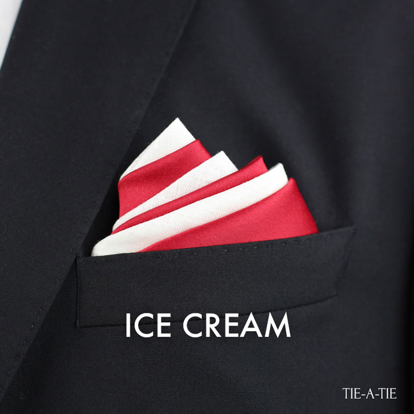 Ice Cream Pocket Square Fold