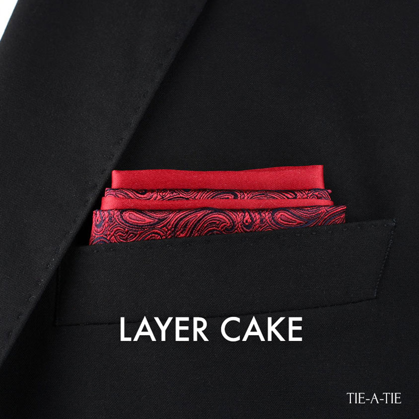 Layer Cake Pocket Square Fold