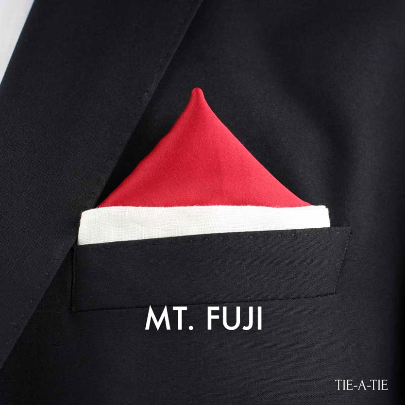 MT Fuji Pocket Square Fold