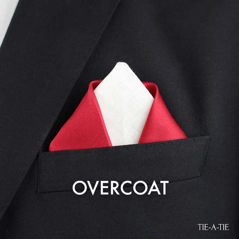 overcoat coat pocket square fold