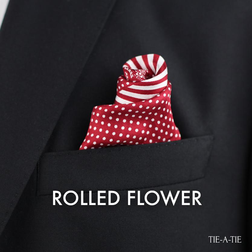 Rolled Flower Pocket Square Fold