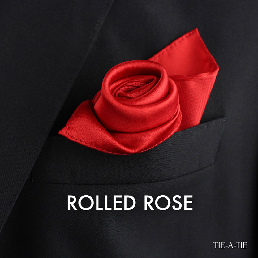 rolled rose pocket square fold